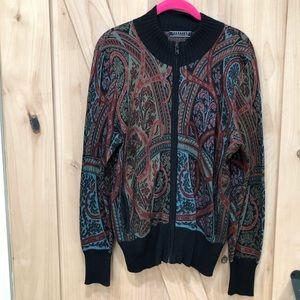 Peruvian Connection baseball sweater jacket Size M